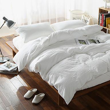 Bettbezug-Sets Verziert 4 Stück Baumwolle Garngefärbt Baumwolle 1 Stk. Bettdeckenbezug 2 Stk. Kissenbezüge 1 Stk. Betttuch