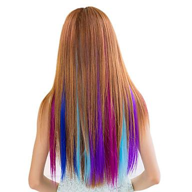 synthetische színes klip hajhosszabbítás 1 klipek 7color