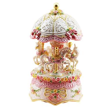 kerámia rózsaszín kreatív romantikus zene doboz ajándék