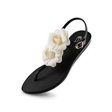 Damen Schuhe Gummi Frühling Sommer Herbst Gelee Flacher Absatz für Kleid Party & Festivität Schwarz