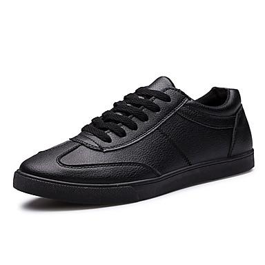 בגדי ריקוד גברים נעליים PU אביב קיץ סתיו נוחות נעלי ספורט ל קזו'אל משרד קריירה מסיבה וערב לבן שחור
