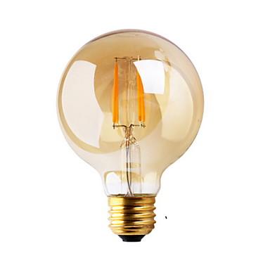 E26/E27 LED-glødepærer G80 2 leds COB Dekorativ Varm hvit ≥180lm 2200K AC 220-240V