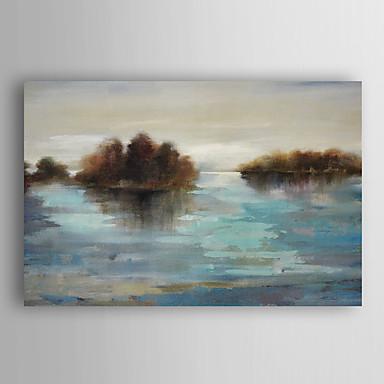handgemaltes Ölgemälde Landschaft blauer Meerblick mit gestreckten Rahmen 7 Wand ARTS®