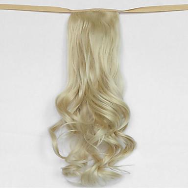 onda de água bege loiro tipo de atadura sintética peruca de cabelo rabo de cavalo (cor 613)