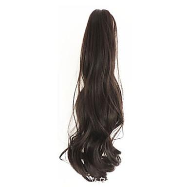 נתפס עם קליפס קוקו דובי קליפר / לסת קליפ שיער סינטטי חתיכת שיער הַאֲרָכַת שֵׂעָר מתולתל / מסולסל