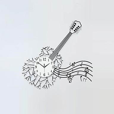 Négyzet / Újdonság Modern/kortárs Falióra,Virágos / Botanikus / Karakterek / Színpadi / Zene / Esküvő / Család Üveg / Fém82cm x 38cm(