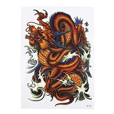 עיצוב מדבקת הקעקוע מזויף נייר דבק אמנות גוף זרוע זמניות מדבקות תמונת טוטם קלסית דרקון קעקוע 8pcs נשלפה