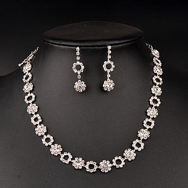 Damen Schmuckset Strass Brautkleidung Strass Halsketten Ohrringe Für Hochzeit Party Besondere Anlässe Geburtstag Hochzeitsgeschenke