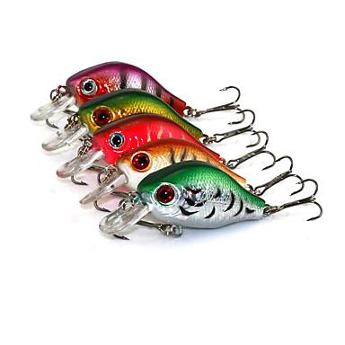 5 pcs leurres de pêche Poissons nageur/Leurre dur Leurre de vibration Multicolore g/Once,55 mm/2-1/4
