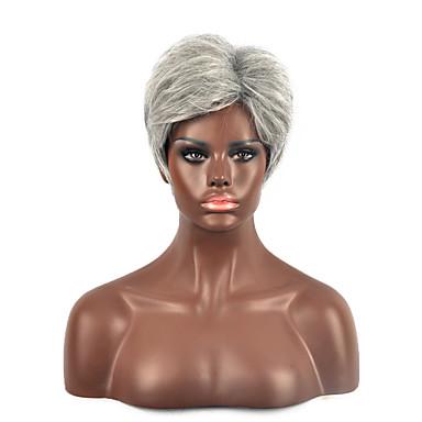 naturlig kort blond farge populær syntetisk parykk for kvinne