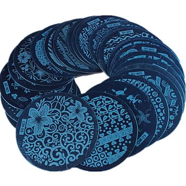 30 pcs Stempling plade Skabelon Moderigtigt Design Negle kunst Manicure Pedicure Stilfuld / Mode Daglig / Stempling Plate / Metal