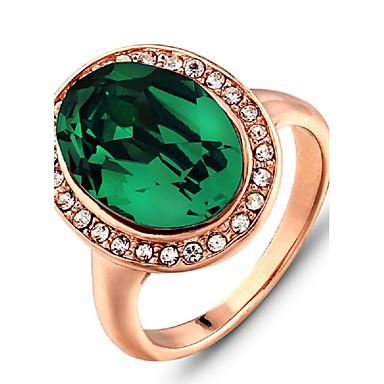 Feminino Anéis Grossos Moda Pedras preciosas sintéticas Jóias Para Casamento Festa Diário Casual