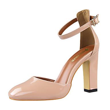 Damen Schuhe PU Sommer Blockabsatz Rot / Rosa / Kamel