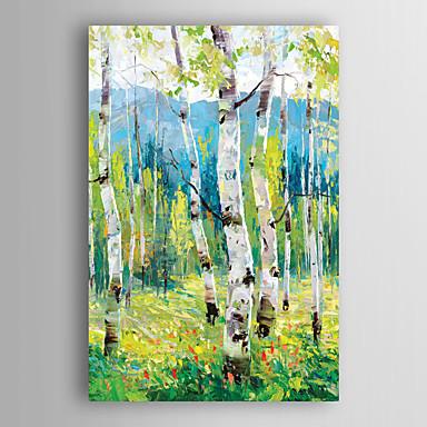 Hang malte oljemaleri Håndmalte - Landskap Moderne Lerret