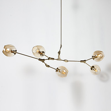 5-luz Lámparas Araña Luz Ambiente - Mini Estilo, 110-120V / 220-240V Bombilla no incluida / 20-30㎡ / E26 / E27
