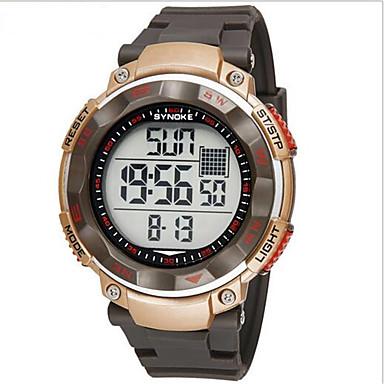 SYNOKE Herren Armbanduhr Digitaluhr Quartz digital Japanischer Quartz LCD Kalender Chronograph Wasserdicht Alarm leuchtend Caucho Band