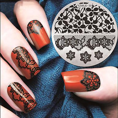 1 Stamping nail צלחות תבנית תמונה סטמפר מגרד