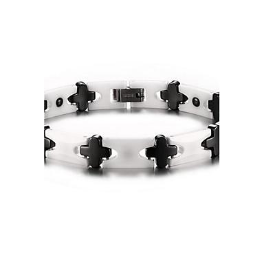 Homme Chaînes & Bracelets Noir Gemme Thérapie Magnétique Mode Céramique Forme de Croix Bijoux Pour Quotidien Décontracté