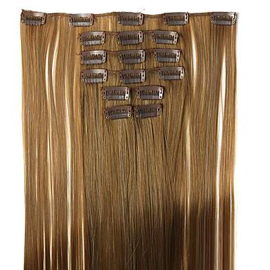 schwarz Länge 62cm Hochtemperatur Perücke gerade synthetische Haarverlängerung