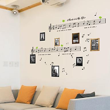Still Life Mote Musikk Vintage fritid Veggklistremerker Fly vægklistermærker Dekorative Mur Klistermærker, PVC Hjem Dekor