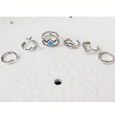 Aleación - Kreisform / Geometrische Form Party / Büro / Freizeit Silber Ring Für Party / Alltag / Normal