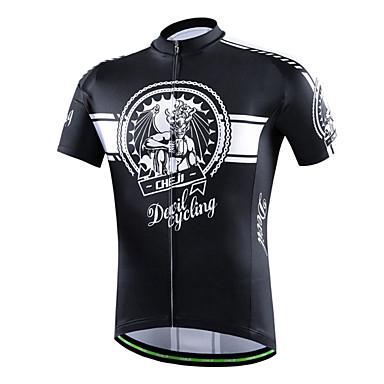 Maillot de Cyclisme Femme Homme Unisexe Manches courtes VéloRespirable Séchage rapide Perméabilité à l'humidité Poche arrière
