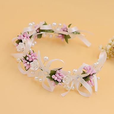 Mulheres Menina das Flores Pérola Tecido Capacete-Casamento Ocasião Especial Casual Ao ar Livre Bandanas 1 Peça