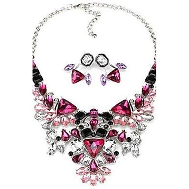 Damen Schmuckset Halskette / Ohrringe Luxus Niedlich Party Büro Simple Style Modisch Europäisch Party Alltag Normal Synthetische