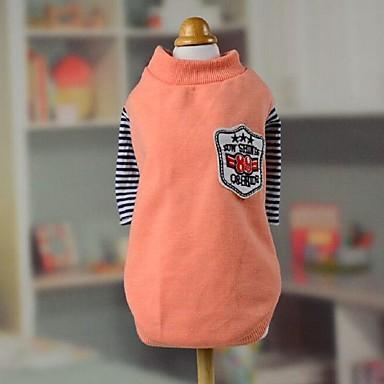 Hunde T-shirt Orange Hundekleidung Sommer / Frühling/Herbst Streifen Lässig/Alltäglich
