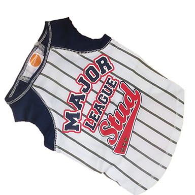 Chien Tee-shirt Maillot Vêtements pour Chien Respirable Sportif Rayure Orange Rouge Costume Pour les animaux domestiques