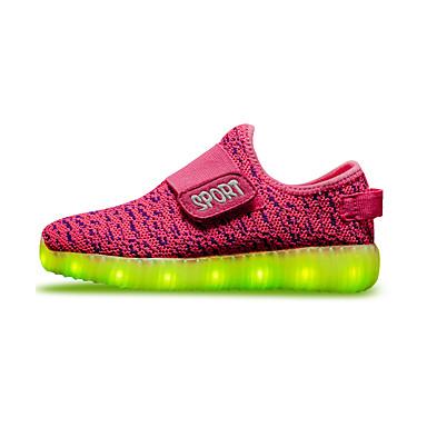 Para Meninos / Para Meninas Sapatos Tecido Primavera Conforto / Tênis com LED Tênis Velcro / LED para Vermelho / Verde / Azul