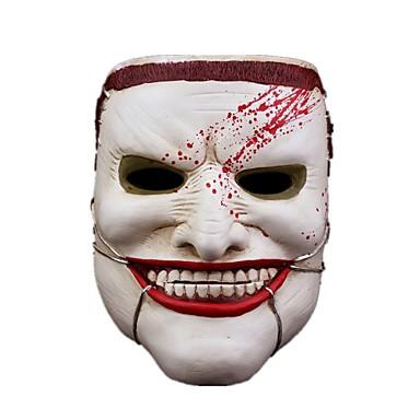 Maske Monstere Festival/høytid Halloween Kostumer Hvit Trykt mønster Maske Halloween Unisex