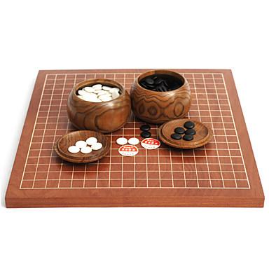 Royal St go jogo de xadrez em frente e verso dupla utilização se adapte xadrez chinês ajustou 2,5 centímetros + bordo data madeira lata de