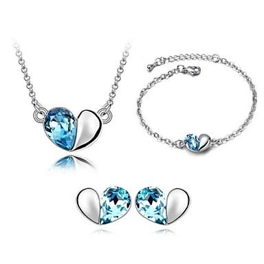 Ensemble de bijoux Femme Quotidien Parures Alliage Cristal Colliers décoratifs / Bracelets / Boucles d'oreille Blanc
