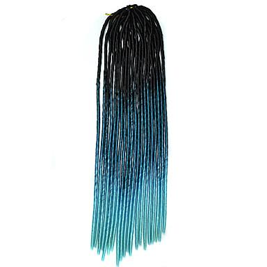 20 אינץ 'crochet רך dreadlock havana mambo טוויסט braide שיער צבע שחור או שחור blackblue skyblue