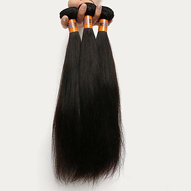 Menschenhaar spinnt Peruanisches Haar Gerade 3 Stück Haar webt