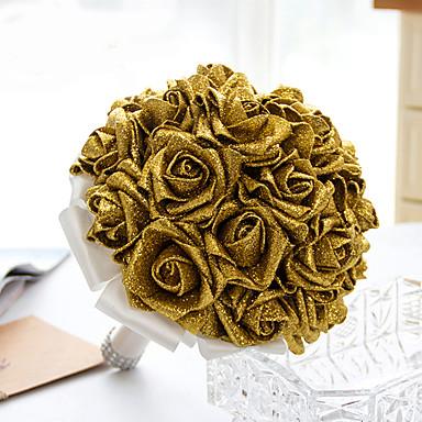Esküvői virágok Csokrok Esküvő Party / estély Kristály Strassz Szatén Hab Kb. 28 cm