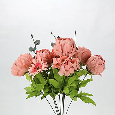 פוליאסטר אדמוניות פרחים מלאכותיים