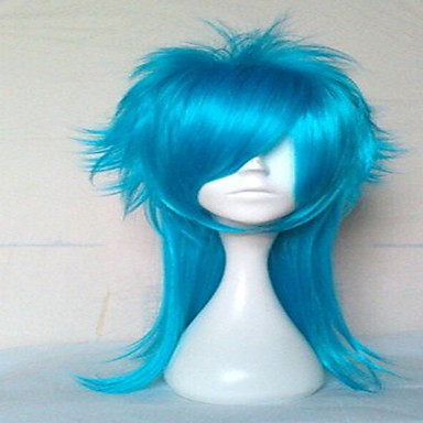 Women's Curly Synthetic Hair Silver Blue