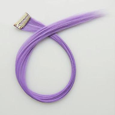roxo comprimento 60 centímetros peruca sintética longa cor do cabelo em linha reta (cor 3815)
