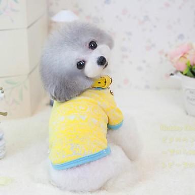 Hunde T-shirt Gelb / Rosa Hundekleidung Sommer / Frühling/Herbst einfarbig Niedlich / Lässig/Alltäglich