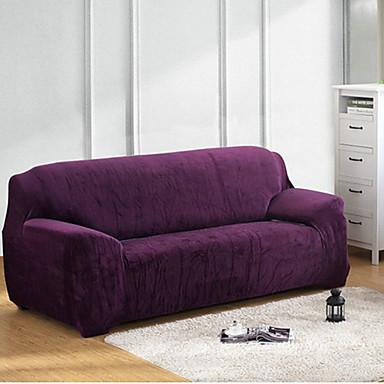 Modern Poliéster Cobertura de Sofa, Tecido Elástico Sólido Capas de Sofa