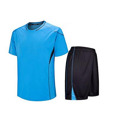 Crianças Futebol Shorts shirt + Conjuntos de Roupas Secagem Rápida Respirável Primavera Verão Inverno Outono Clássico TeryleneExercício e