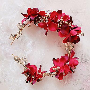 Latão / Tecido Headbands / Decoração de Cabelo com Floral 1pç Casamento / Ocasião Especial / Ao ar livre Capacete