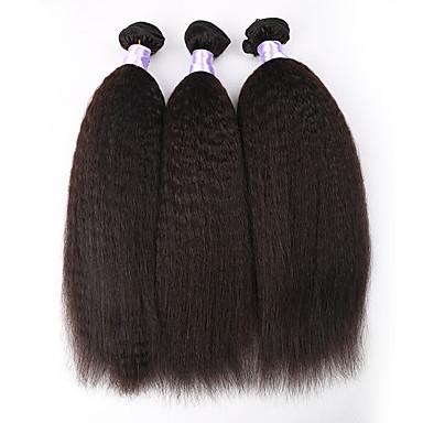 Υφάνσεις ανθρώπινα μαλλιών Βραζιλιάνικη Drept 3 Κομμάτια υφαίνει τα μαλλιά