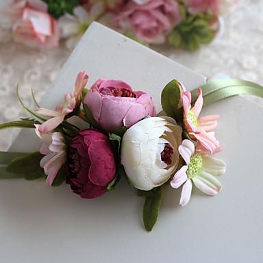 Bryllupsblomster Buketter Håndledscorsage Andre Kunstig blomst Bryllup Fest / aften Materiale Blonde polyester Satin 0-20cm