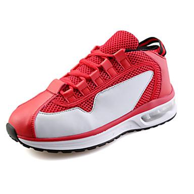 Sko-PU-Flat hæl-Komfort-Trendy sneakers-Sport-Svart / Rød / Hvit / Svart og Hvit