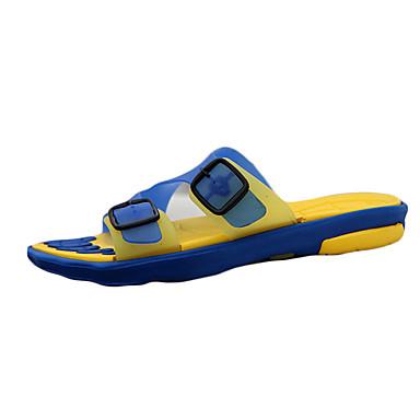 Men's Silicone Spring Comfort / Summer / Fall Comfort Spring Slippers & Flip-Flops Walking Shoes Slip Resistant Brown / Blue / Black / Red c481b7