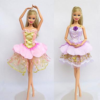 יום יומי תחפושות ל ברבי דול תחרה מֶשִׁי שמלה ל הילדה של בובת צעצוע
