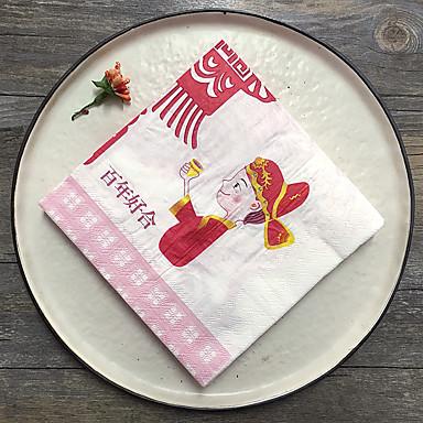 100% pulpe vierge Serviettes de mariage - 20 Serviette de déjeuner Serviette de dîner Mariage Thème classique